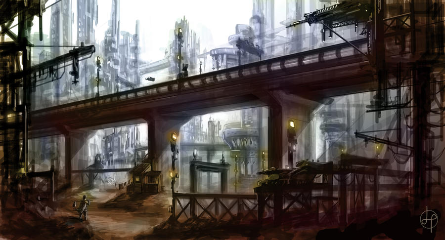 speedpaint industrial city by - photo #3