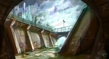 Urban River - Speed Paint by GenoPunk