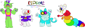 Kidcore/Rainbowcore Adoptables (CLOSED) by ThatPurplewolf