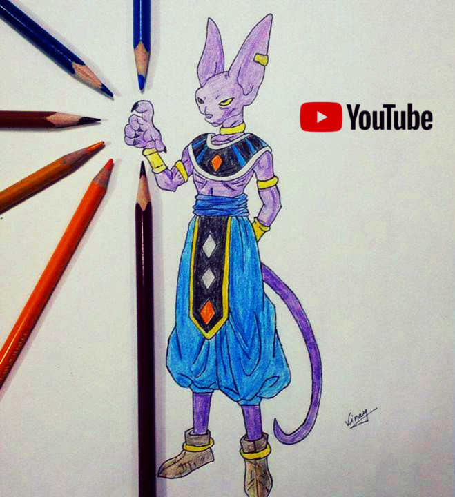 Draw Beerus Destroyer By Strangersknight On Deviantart