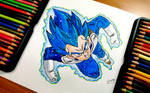 Vegeta Super Saiyan Ultra Blue | Dragon ball Super by strangersknight