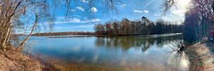 Six Lake Greenzone Duisburg 2021 February (2) Pano