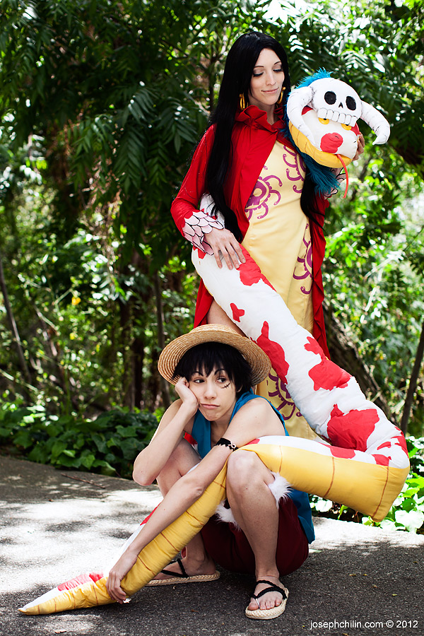 Luffy and Hancock by IchigoKitty