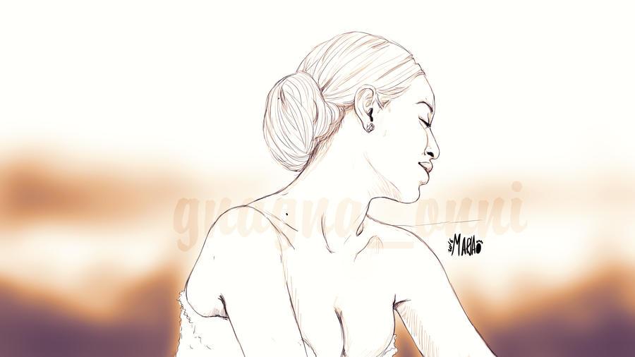 Beyonce Sketchy portrait by minkiososa