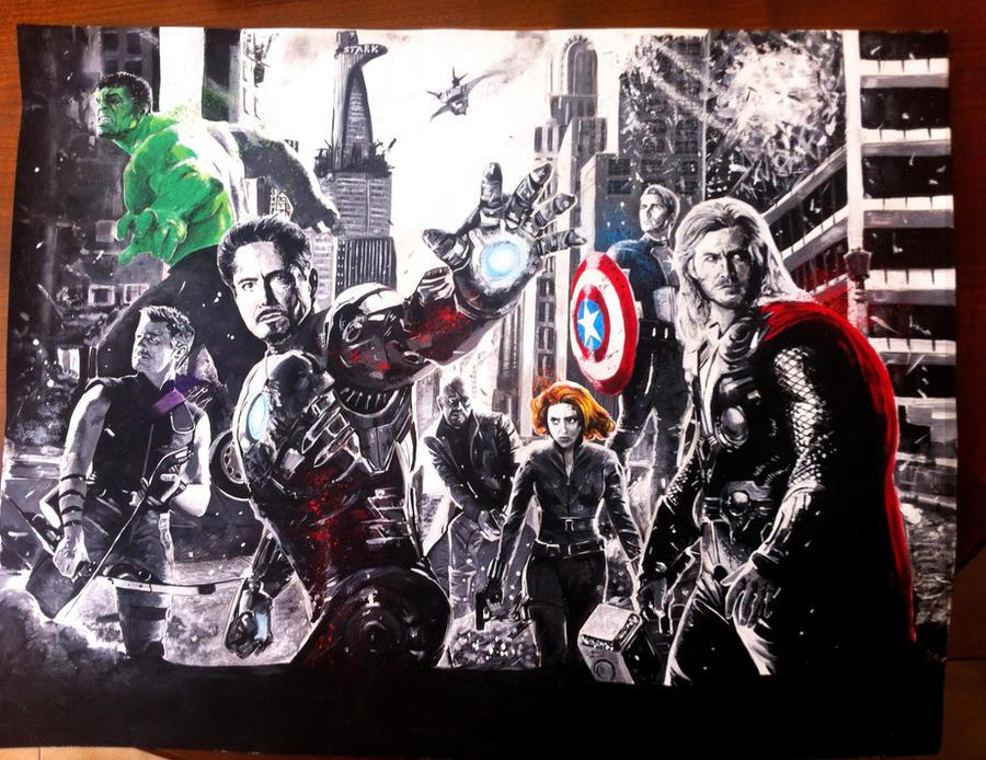 The Avengers assemble