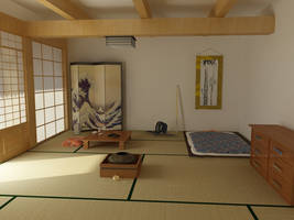 Japanese Bedroom by ken-ichi