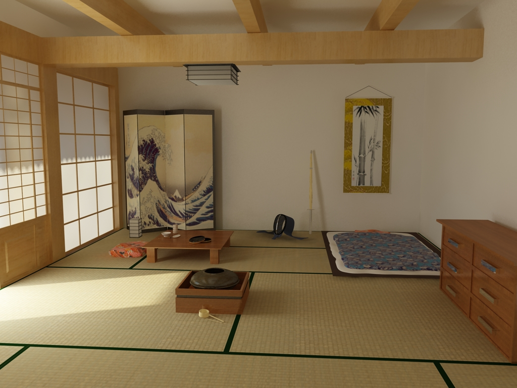 Traditional japanese house bedroom - Japanese Bedroom By Ken Ichi