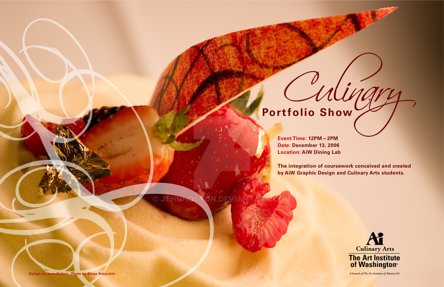 Culinary Show Poster by JennHolton