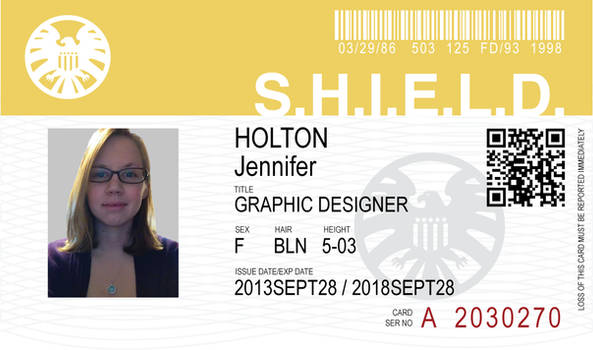SHIELD ID card