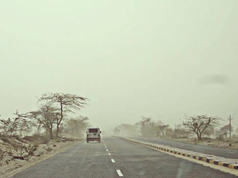 sand storm....