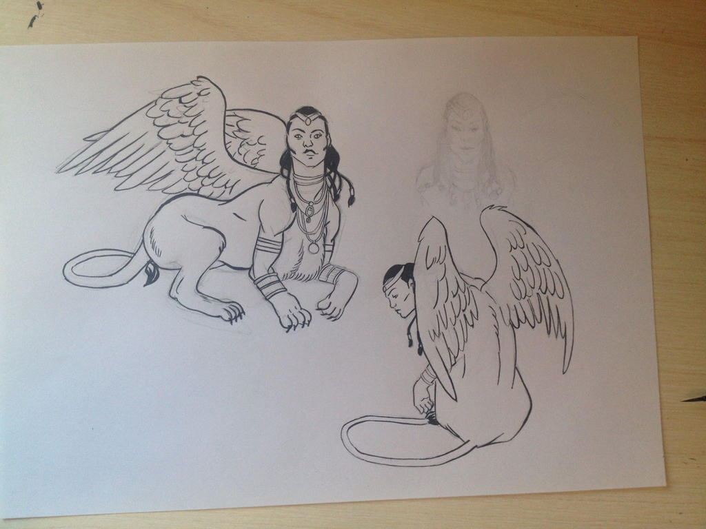 Sphinx study by D34THM3T4L
