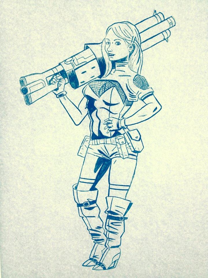 Random Sci fi girl by D34THM3T4L