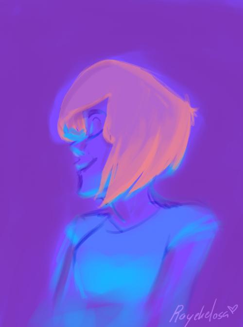 Neon girl by raychell1