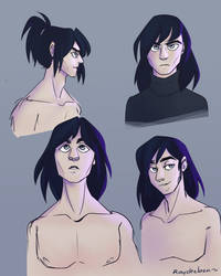 Long haired hot emo boi by raychell1