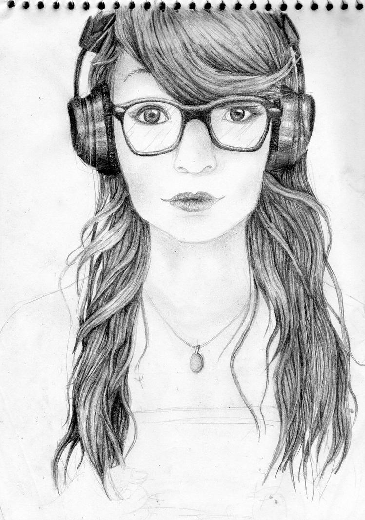 Drawing: Hipster Little Mermaid by lissw4 on DeviantArt