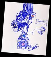 Portal 2 chibiness by Goth-Virgy
