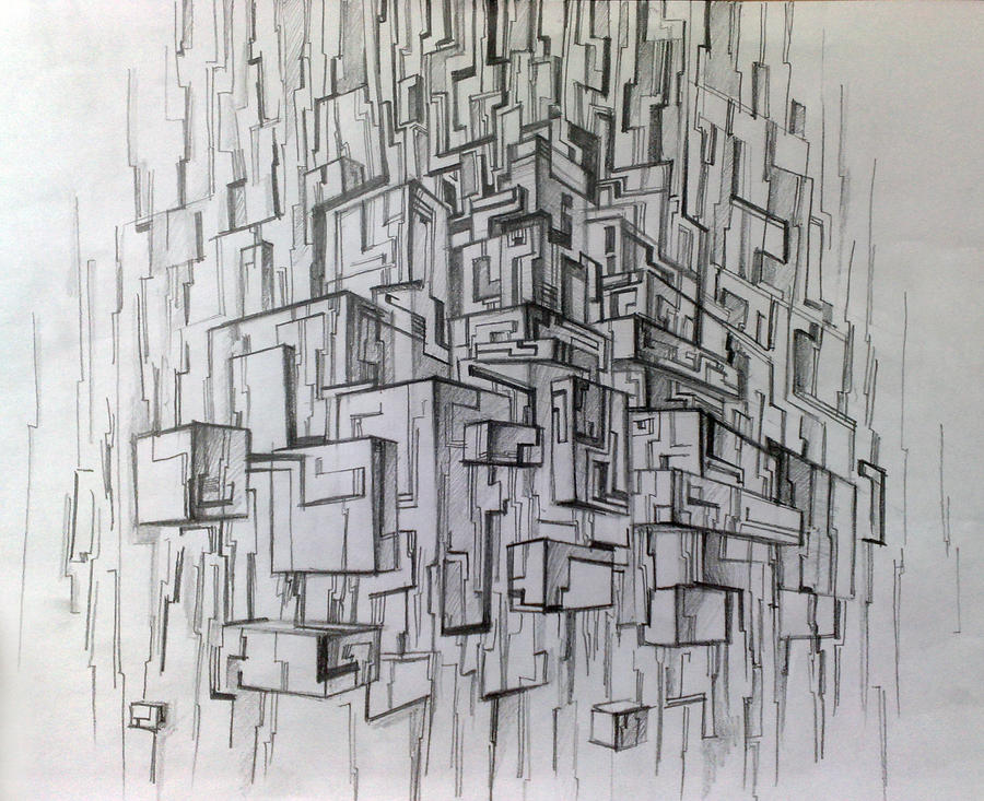 Sketch Abstract City By YelloTy