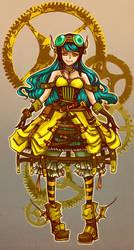 SteamPunk Girl by whitekitsune