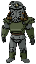 +Lineart n' Color Training+ T51B power armor