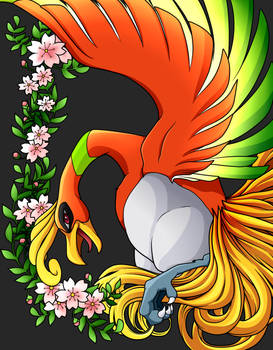 +Ho-Oh drawn by PikaChoupi, lined n colored by me+