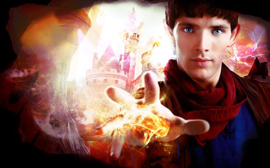 merlin promo image wallpaper by magic ban on deviantart