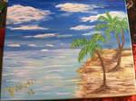 Warm Beach Palm Trees