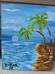 Sandy Beach Palm Tree Abstract