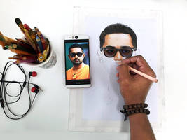 Actor- Asif Ali - Colored Pencil Drawing WIP