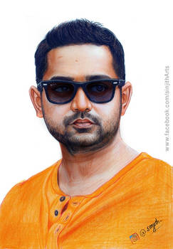 Asif Ali - Colored pencil drawing
