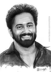 Actor- unni mukundan - watercolour painting by sinjith