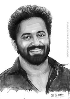 Actor- unni mukundan - watercolour painting