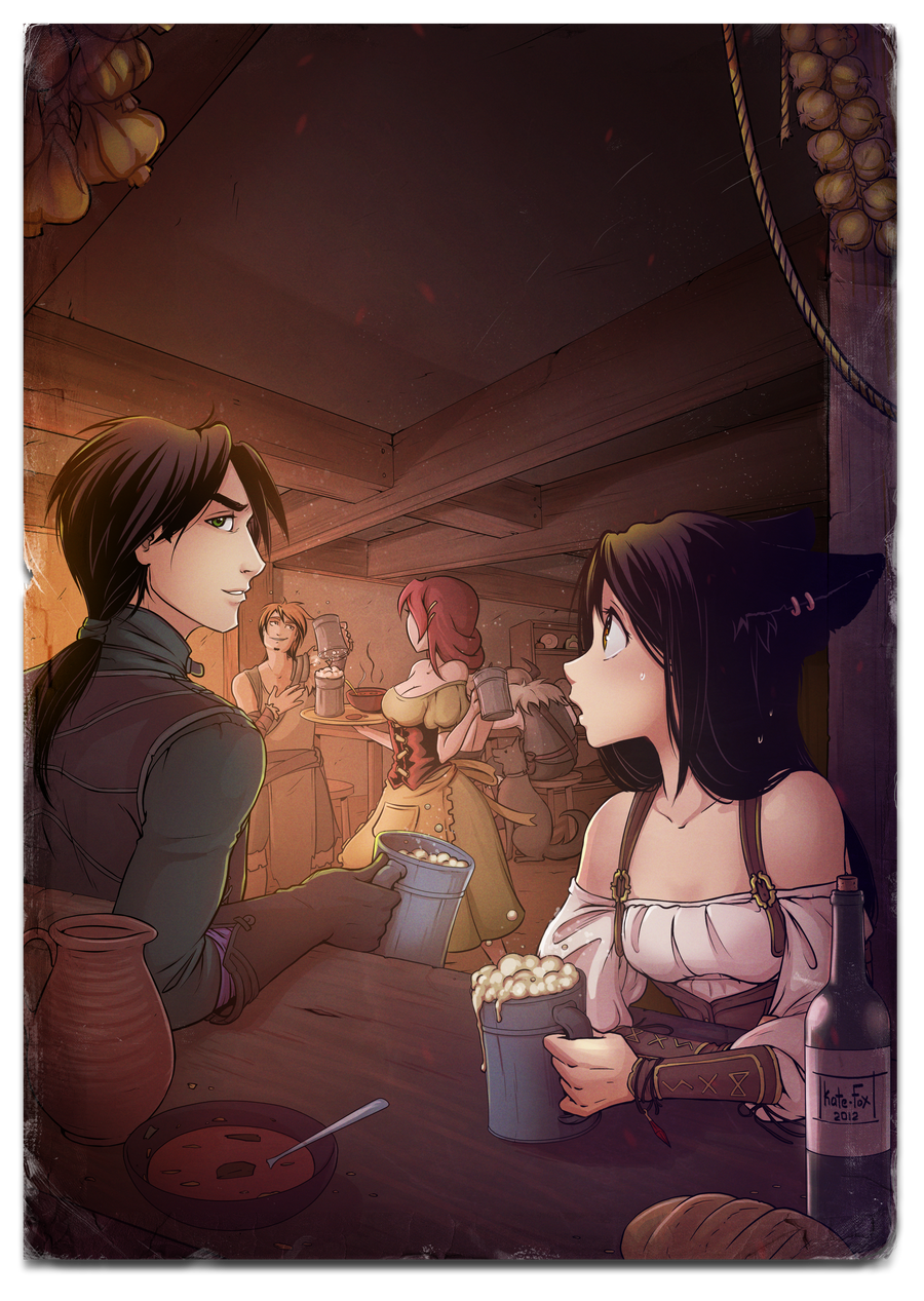 In a tavern by Kate-FoX