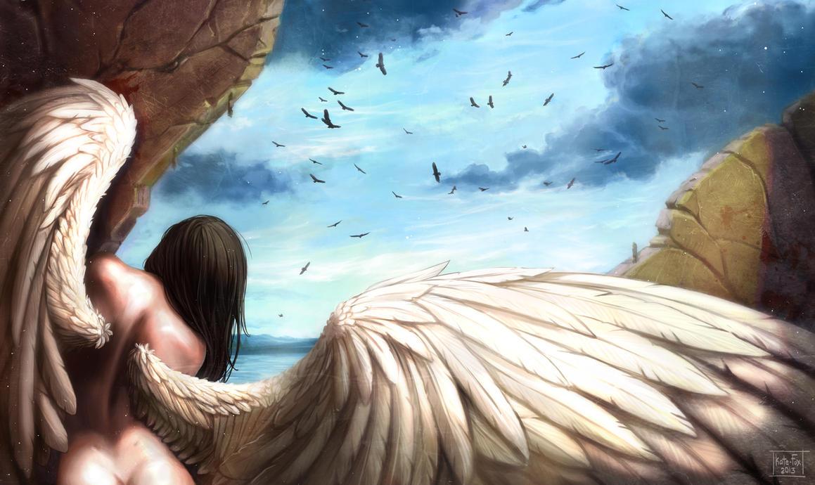 Inhabitant of heaven by Kate-FoX
