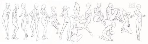 Pose study 1 by Kate-FoX