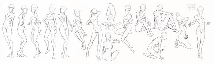 Pose study 1 by Kate-FoX