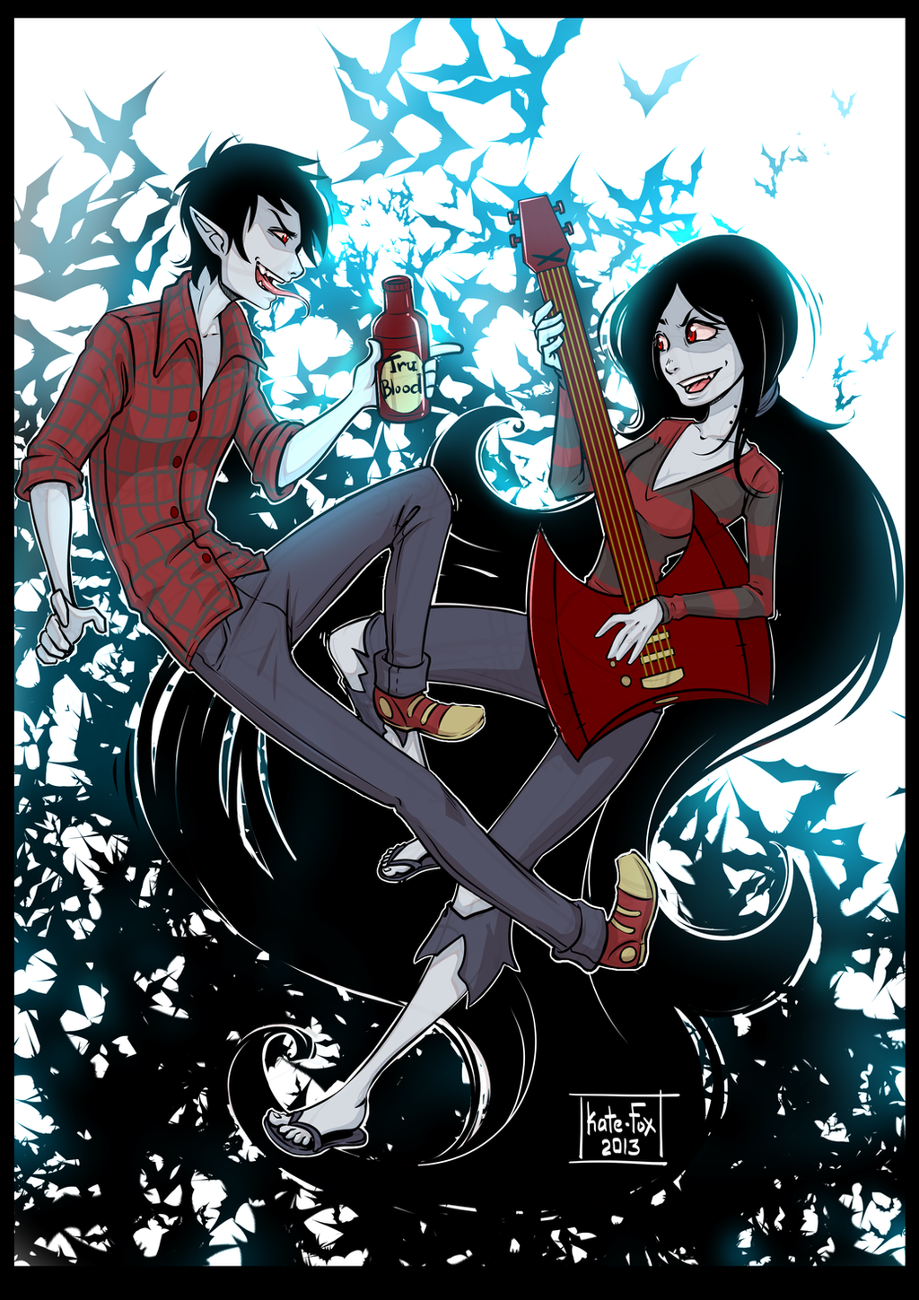 Adventure Time Marceline And Marshall Lee By Kate FoX