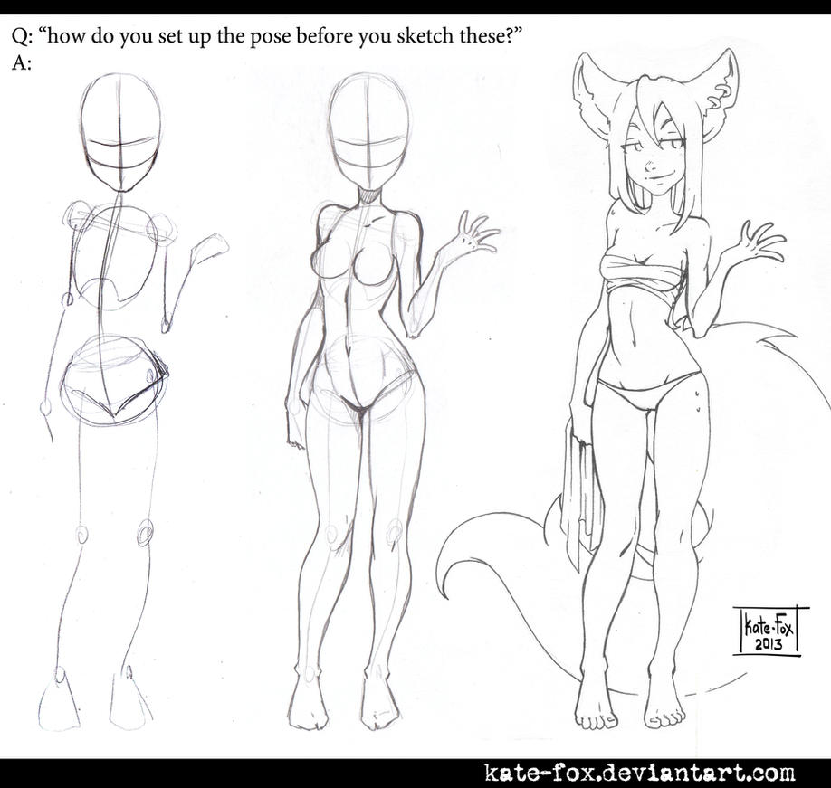 how to draw a nude female