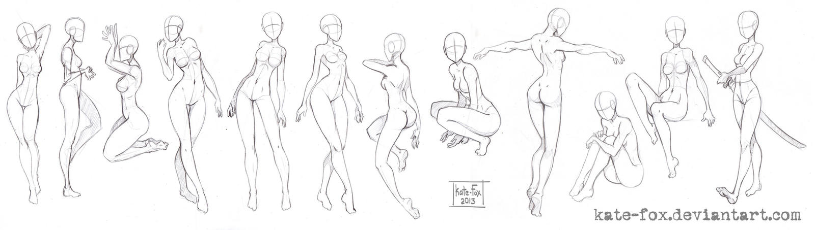 Pose study6 by Kate-FoX