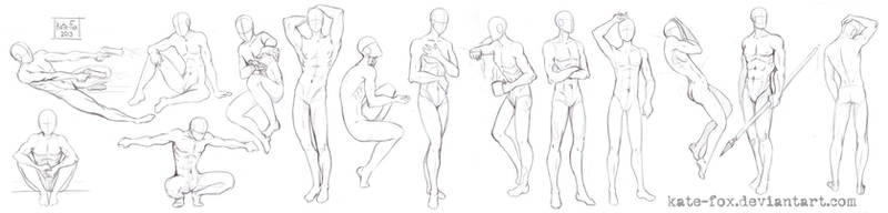 Pose study8 by Kate-FoX