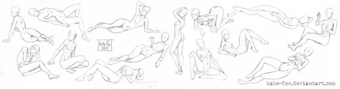 Pose study9 by Kate-FoX