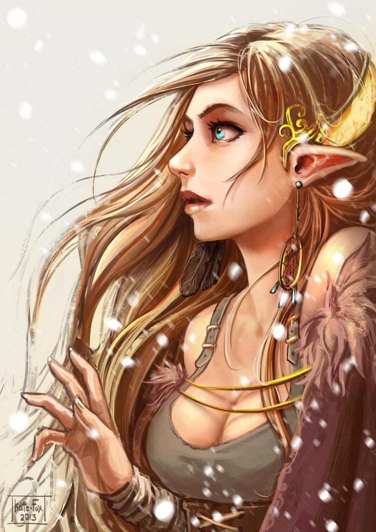 Elf portrait by Kate-FoX