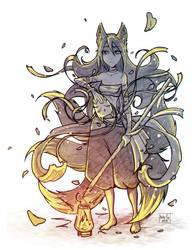 Fox with a lantern by Kate-FoX