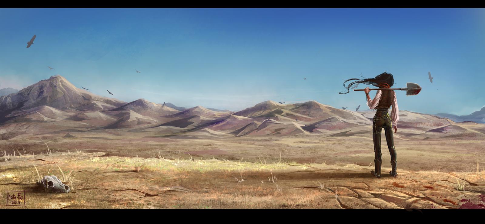 The desert prairie by Kate-FoX