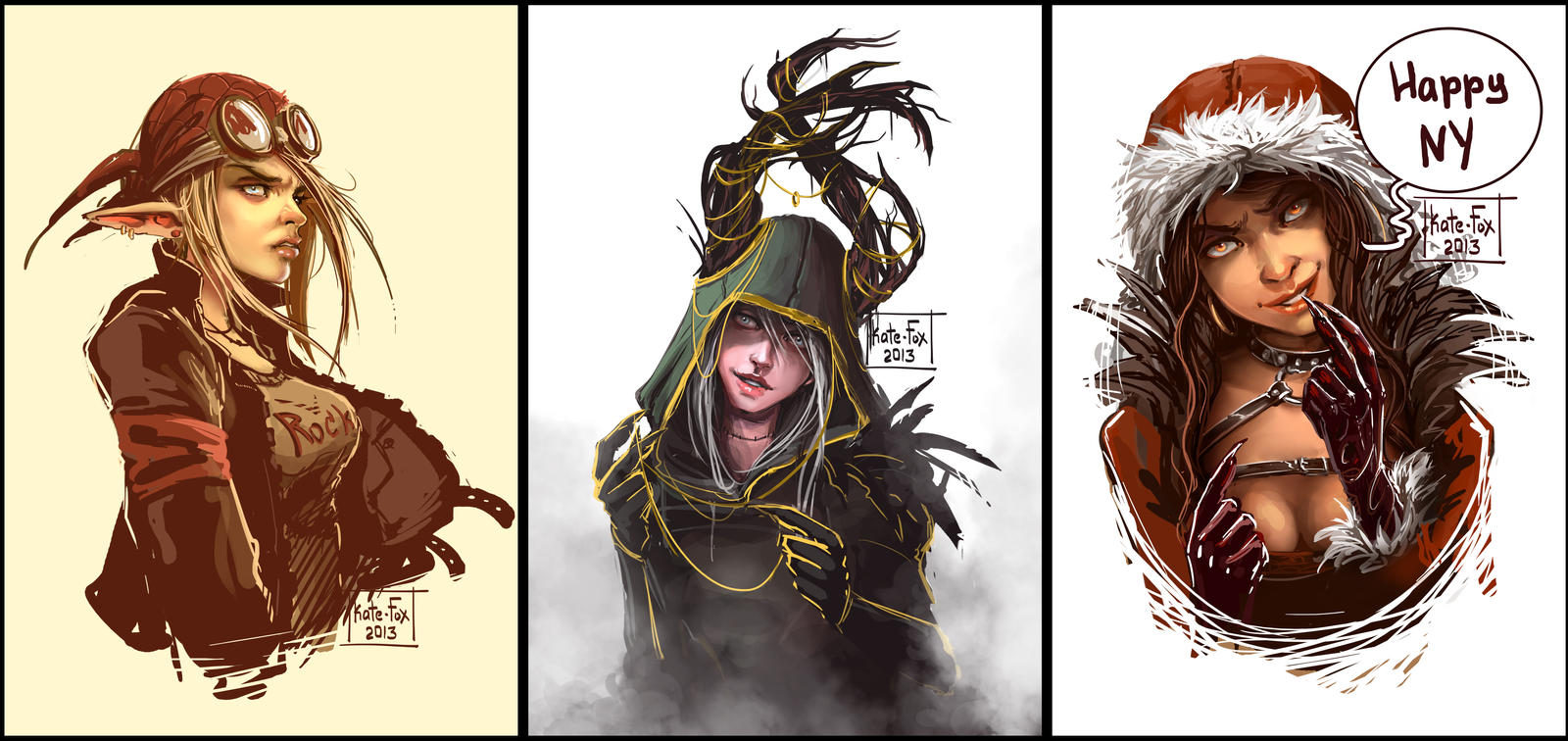 Sketches portraits 1 by Kate-FoX