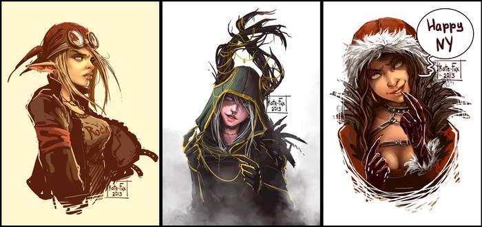 Sketches portraits 1