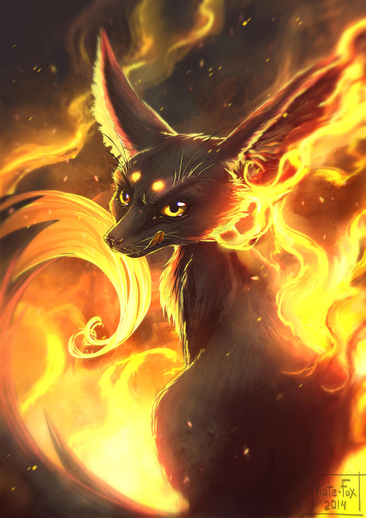Fire Fennec by Kate-FoX