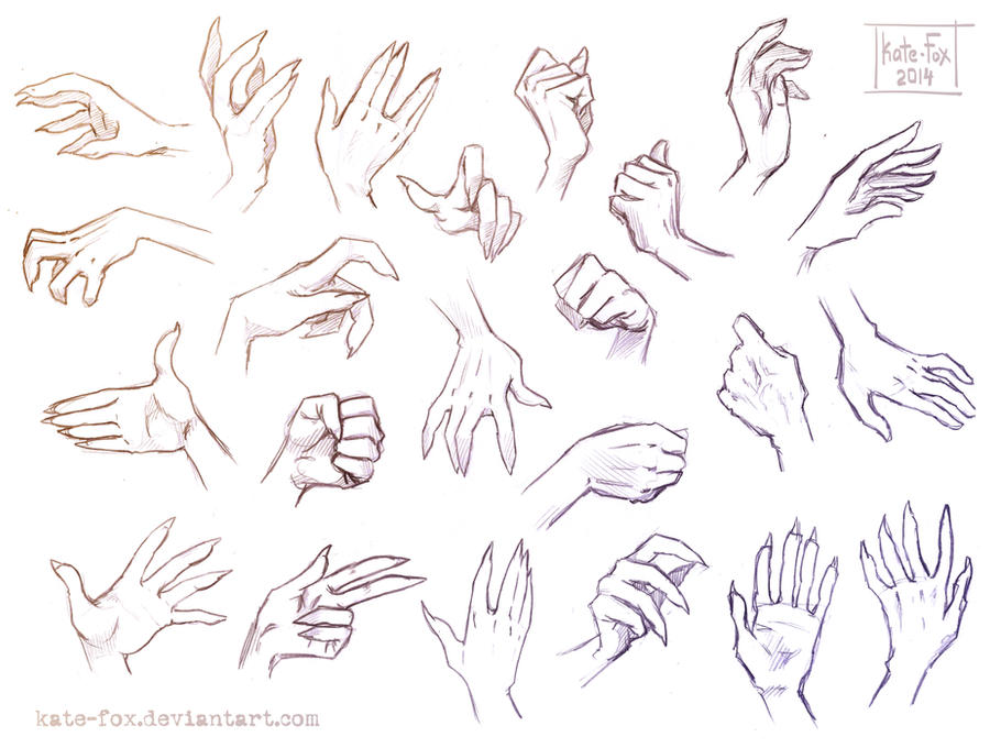Hand study 1 by Kate-FoX on DeviantArt