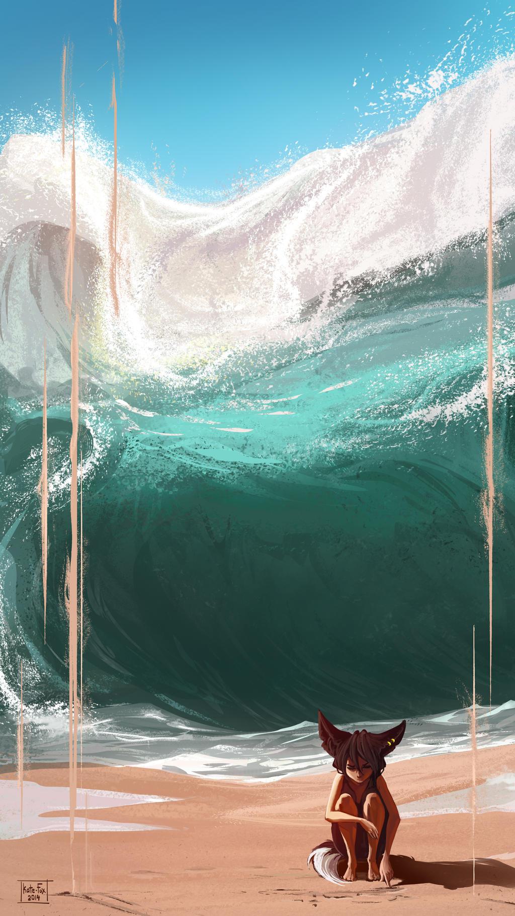 Hugs of the ocean by Kate-FoX