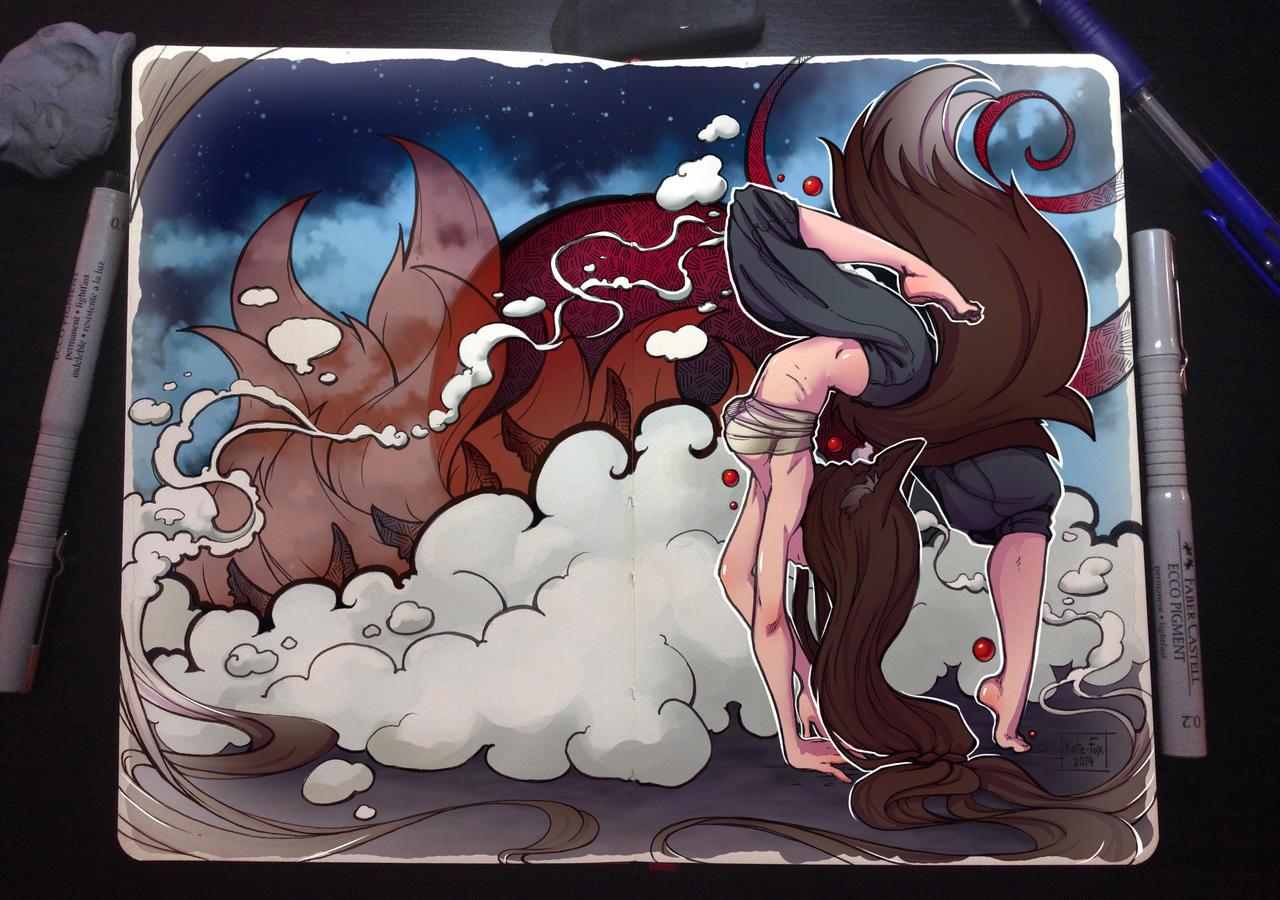 Moleskine: Dance of fox by Kate-FoX