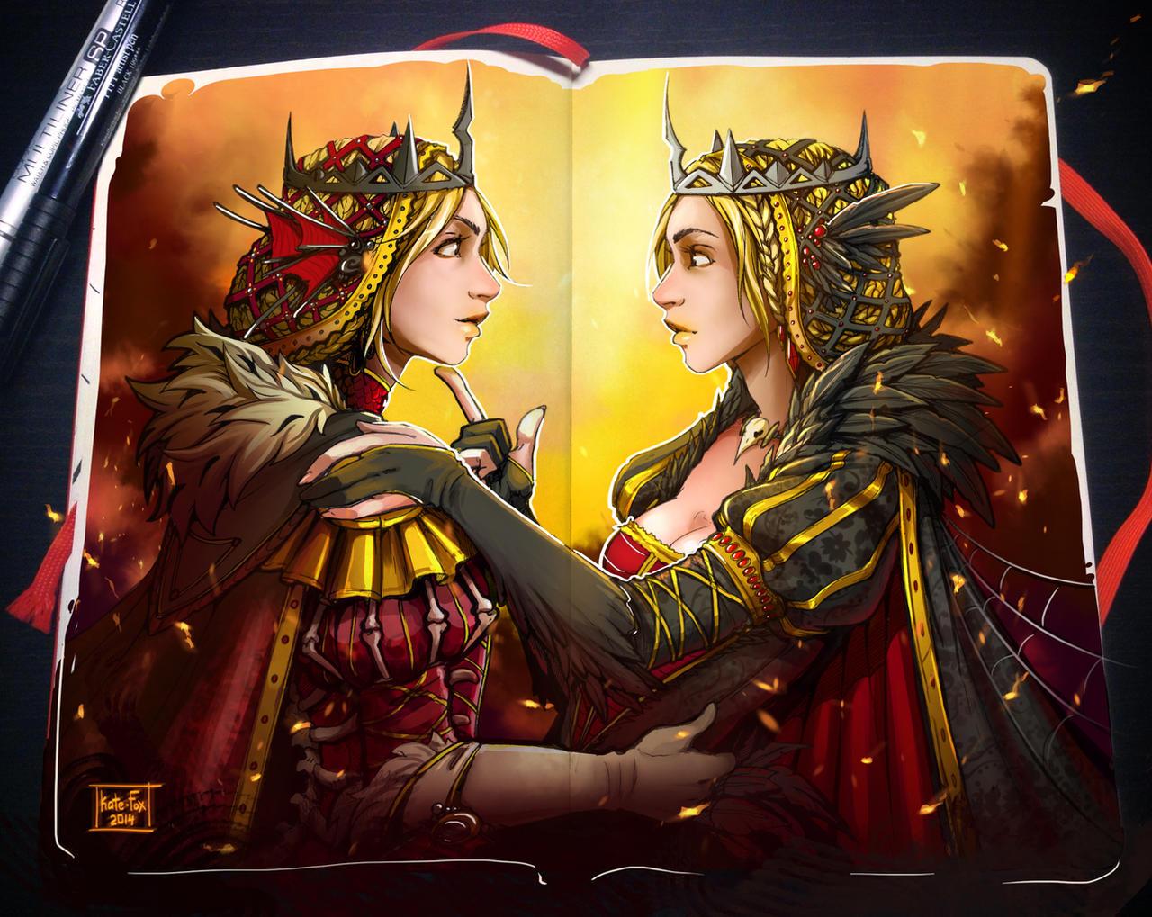 Moleskine: Evil Twins by Kate-FoX